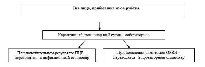 Схема маршрутизации COVID-19