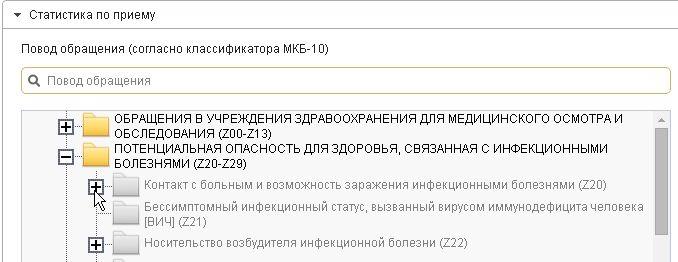 Повод обращения, код МКБ
