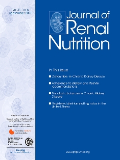 журнал Journal of Renal Nutrition