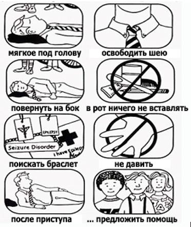 Первая помощь при судорогах. Эпилепсия
