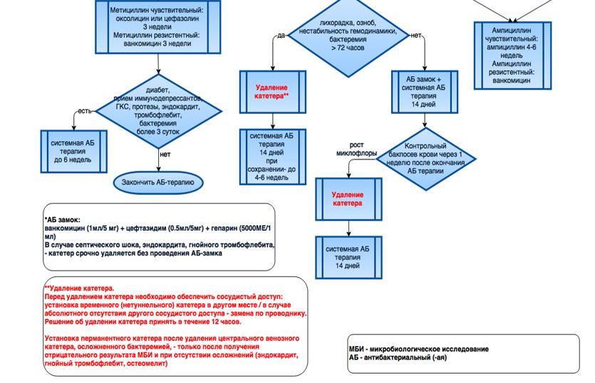 Алгоритм диагностики инфекции сосудистого доступа при гемодиализе