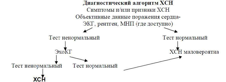 Диагностический алгоритм ХСН