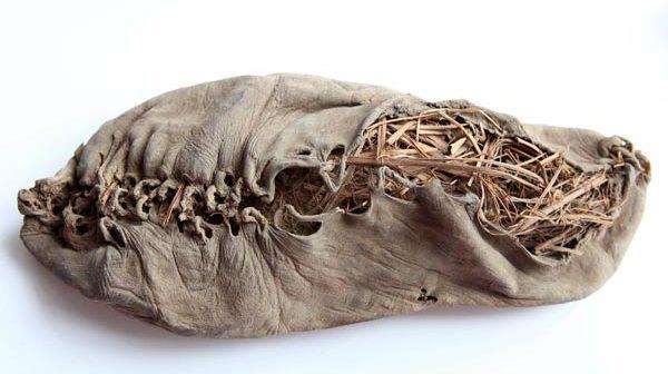 Обувной гардероб древних людей был невелик