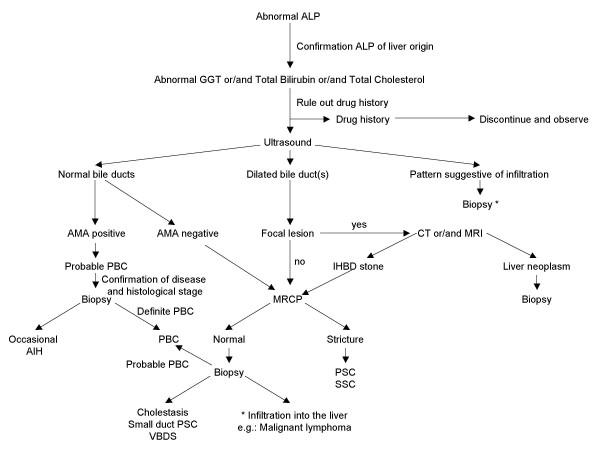 Специфический маркер билиарного цирроза печени