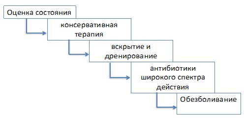 Алгоритм действий при неотложных ситуациях при бартолините